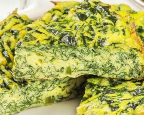 Frittata spinaci e cipolle